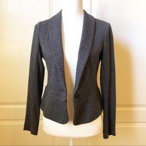 Banana Republic Knit Harringbone Blazer Jacket